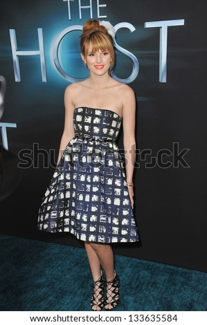 "LOS ANGELES, CA - MARCH 19, 2013: Bella Thorne at the Los Angeles premiere of ""The Host"" at the Cinerama Dome, Hollywood."