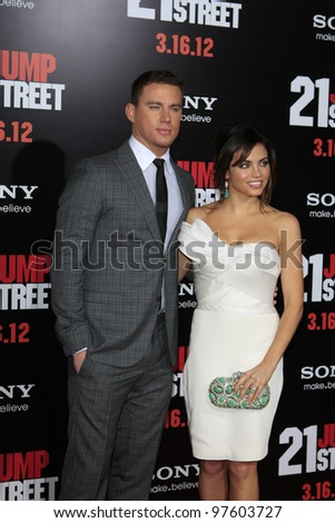 LOS ANGELES, CA - MARCH 13: Channing Tatum, Jenna Dewan at the premiere of Columbia Pictures '21 Jump Street' held at Grauman's Chinese Theater on March 13, 2012 in Los Angeles, California