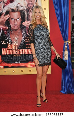 """LOS ANGELES, CA - MARCH 11, 2013: Jessica McClain at the world premiere of her movie """"The Incredible Burt Wonderstone"""" at the Chinese Theatre, Hollywood."""