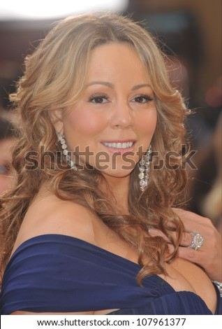 LOS ANGELES, CA - MARCH 7, 2010: Mariah Carey at the 82nd Annual Academy Awards at the Kodak Theatre, Hollywood.