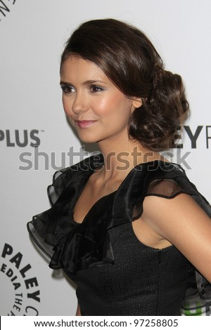 LOS ANGELES, CA - MARCH 10: Nina Dobrev at The Paley Center For Media's PaleyFest 2012 honoring 'Vampire Diaries' at the Saban Theater on March 10, 2012 in Beverly Hills, California