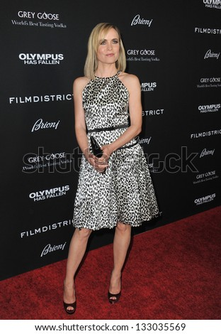 """LOS ANGELES, CA - MARCH 18, 2013: Radha Mitchell at the Los Angeles premiere of her movie """"Olympus Has Fallen"""" at the Cinerama Dome, Hollywood."""