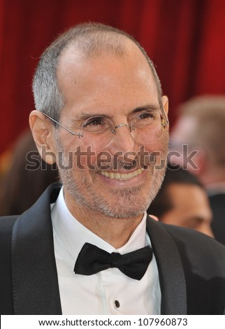 LOS ANGELES, CA - MARCH 7, 2010: Steve Jobs at the 82nd Annual Academy Awards at the Kodak Theatre, Hollywood.