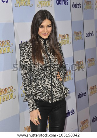 """LOS ANGELES, CA - MARCH 17, 2012: Victoria Justice at the world premiere of """"Mirror Mirror"""" at Grauman's Chinese Theatre, Hollywood. March 17, 2012  Los Angeles, CA"""