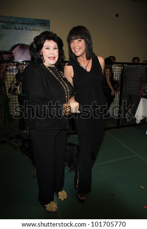 LOS ANGELES, CA - MAY 3: Barbara Van Orden, Kim Rhodes at the grand opening of the Pooch Hotel on May 3, 2012 in Hollywood, Los Angeles, California. The Pooch Hotel is a luxury hotel for dogs.