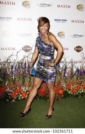 LOS ANGELES, CA - MAY 19: Elise Neal arrives at the 11th annual Maxim Hot 100 Party at Paramount Studios on May 19, 2010 in Los Angeles, California