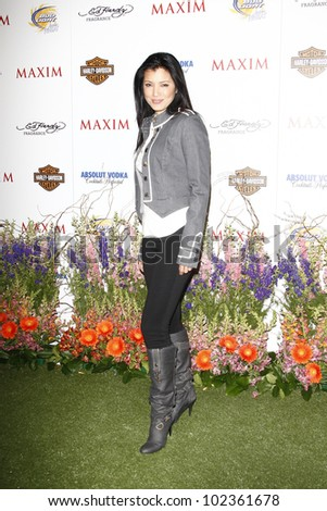 LOS ANGELES, CA - MAY 19: Kelly Hu arrives at the 11th annual Maxim Hot 100 Party at Paramount Studios on May 19, 2010 in Los Angeles, California