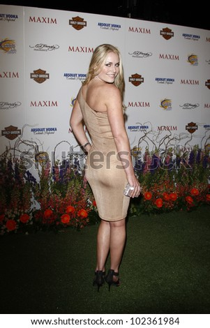 LOS ANGELES, CA - MAY 19: Lindsey Vonn arrives at the 11th annual Maxim Hot 100 Party at Paramount Studios on May 19, 2010 in Los Angeles, California