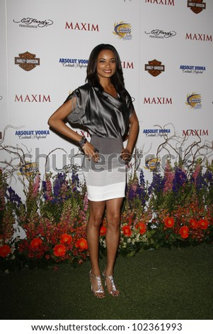 LOS ANGELES, CA - MAY 19: Rochelle Aytes arrives at the 11th annual Maxim Hot 100 Party at Paramount Studios on May 19, 2010 in Los Angeles, California