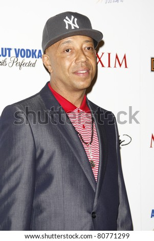 LOS ANGELES, CA - MAY 19: Russell Simmons arrives at the 11th annual Maxim Hot 100 Party at Paramount Studios on May 19, 2010 in Los Angeles, California