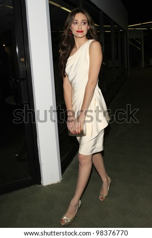 LOS ANGELES, CA - NOV 8: Emmy Rossum is at an event where actress/singer Emmy Rossum released her new CD 'Inside Out' with a party in Los Angeles, CA on November  8, 2007