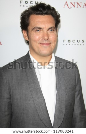 LOS ANGELES, CA - NOV 14:  Joe Wright at  the premiere of 'Anna Karenina' at ArcLight Hollywood on November 14, 2012 in Los Angeles, California.