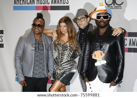 LOS ANGELES, CA  - NOV 21:  Stacy Ferguson aka Fergie with the Black Eyed Peas at the 2010 American Music Awards held at the Nokia Theater on November 21, 2010 in Los Angeles, California.