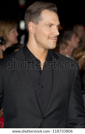 LOS ANGELES, CA - NOVEMBER 12: Actor Daniel Cudmore arrives at the premiere of The Twilight Saga: Breaking Dawn - Part 2 at the Nokia Theater in Los Angeles, CA on November 12, 2012
