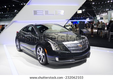 Los Angeles CA November Cadillac ELR Car On Display At - Car show los angeles ca