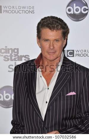 LOS ANGELES, CA - NOVEMBER 1, 2010: David Hasselhoff at the 200th episode party for Dancing With The Stars at Boulevard 3 in Hollywood.