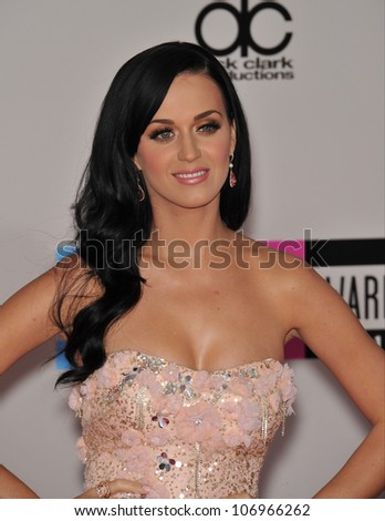 LOS ANGELES, CA - NOVEMBER 21, 2010: Katy Perry at the 2010 American Music Awards at the Nokia Theatre L.A. Live.