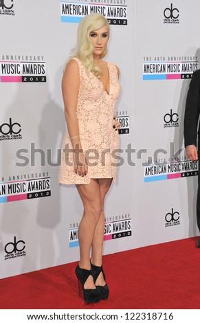 LOS ANGELES, CA - NOVEMBER 18, 2012: Ke$ha at the 40th Anniversary American Music Awards at the Nokia Theatre LA Live.
