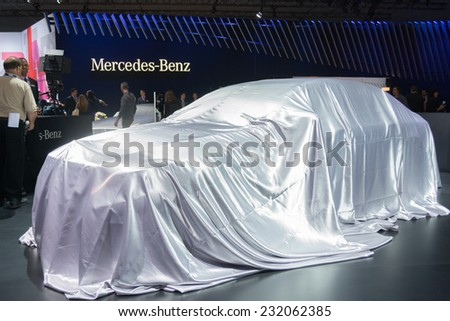Los Angeles, CA - November 19, 2014: Mercedes-Benz  press conference to debut car on display at the LA  Auto Show