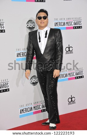 LOS ANGELES, CA - NOVEMBER 18, 2012: Psy at the 40th Anniversary American Music Awards at the Nokia Theatre LA Live.
