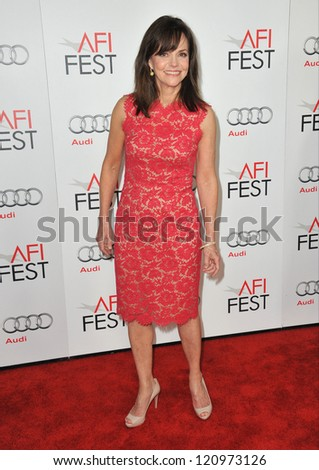 "LOS ANGELES, CA - NOVEMBER 8, 2012: Sally Field at the AFI Fest premiere of her movie ""Lincoln"" at Grauman's Chinese Theatre, Hollywood."