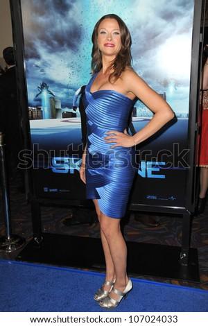 "LOS ANGELES, CA - NOVEMBER 9, 2010: Scottie Thompson at the world premiere of her new movie ""Skyline"" at the Regal Cinema at L.A. Live ."