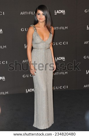 LOS ANGELES CA NOVEMBER 1 2014 Selena Gomez at the 2014 LACMA Art&Film Gala at the Los Angeles County Museum of Art