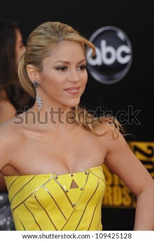LOS ANGELES, CA - NOVEMBER 22, 2009: Shakira at the 2009 American Music Awards at the Nokia Theatre L.A. Live. - stock photo