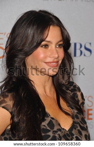 LOS ANGELES, CA - NOVEMBER 10, 2009: Sofia Vergara, star of Modern Family, at the nominations announcement for the 2010 People's Choice Awards at the SLS Hotel, Beverly Hills.