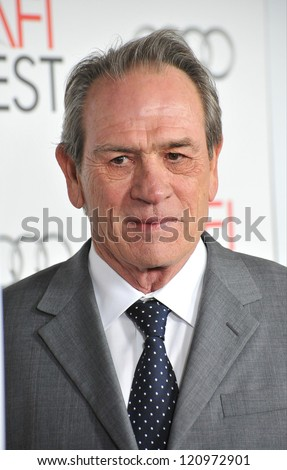 "LOS ANGELES, CA - NOVEMBER 8, 2012: Tommy Lee Jones at the AFI Fest premiere of his movie ""Lincoln"" at Grauman's Chinese Theatre, Hollywood."