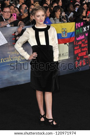 "LOS ANGELES, CA - NOVEMBER 12, 2012: Willow Shields at the world premiere of ""The Twilight Saga: Breaking Dawn - Part 2"" at the Nokia Theatre LA Live."