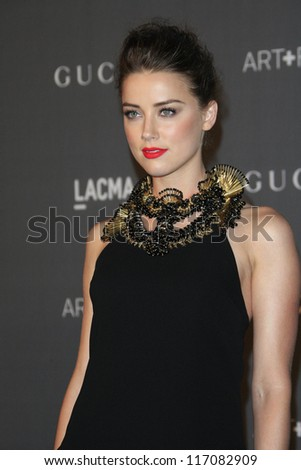LOS ANGELES, CA - OCT 27: Amber Heard at the LACMA 2012 Art + Film Gala at LACMA on October 27, 2012 in Los Angeles, California