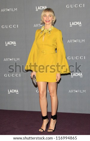 LOS ANGELES, CA - OCT 27: Cameron Diaz at the LACMA 2012 Art + Film Gala at LACMA on October 27, 2012 in Los Angeles, California