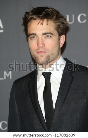 LOS ANGELES, CA - OCT 27: Robert Pattinson at the LACMA 2012 Art + Film Gala at LACMA on October 27, 2012 in Los Angeles, California