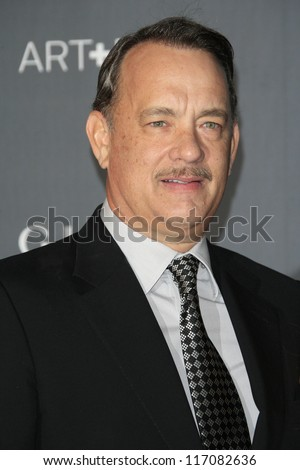 LOS ANGELES, CA - OCT 27: Tom Hanks at the LACMA 2012 Art + Film Gala at LACMA on October 27, 2012 in Los Angeles, California