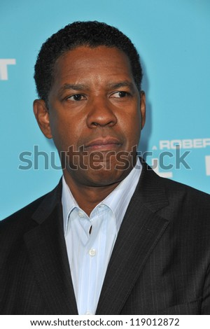 "LOS ANGELES, CA - OCTOBER 23, 2012: Denzel Washington at the Los Angeles premiere of his new movie ""Flight"" at the Cinerama Dome, Hollywood."
