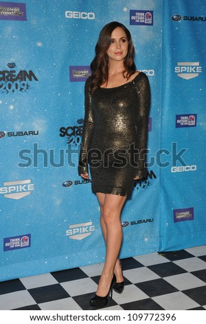 LOS ANGELES, CA - OCTOBER 17, 2009: Eliza Dushku at the 2009 Spike TV Scream Awards, at the Greek Theatre, Los Angeles.