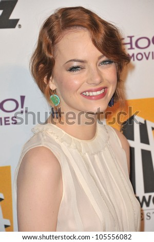 LOS ANGELES, CA - OCTOBER 24, 2011: Emma Stone at the 15th Annual Hollywood Film Awards Gala at the Beverly Hilton Hotel. October 24, 2011  Beverly Hills, CA