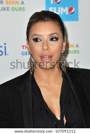 LOS ANGELES, CA - OCTOBER 21, 2010: Eva Longoria Parker at the premiere of her new documentary Ã?Latinos Living the American Dream
