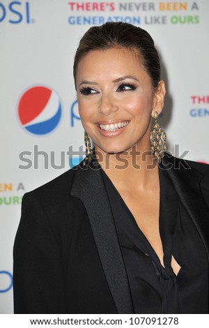 LOS ANGELES, CA - OCTOBER 21, 2010: Eva Longoria Parker at the premiere of her new documentary Latinos Living the American Dream