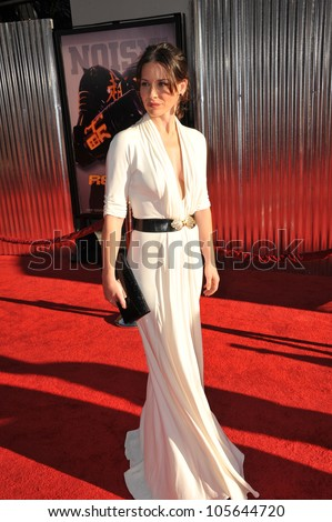 "LOS ANGELES, CA - OCTOBER 2, 2011: Evangeline Lilly at the Los Angeles premiere of her new movie ""Real Steel"" at Universal Studios Hollywood. October 2, 2011  Los Angeles, CA - stock photo"