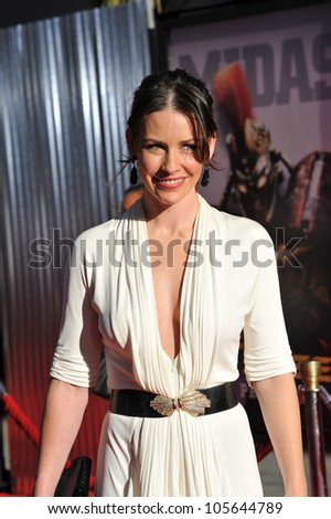 """LOS ANGELES, CA - OCTOBER 2, 2011: Evangeline Lilly at the Los Angeles premiere of her new movie """"Real Steel"""" at Universal Studios Hollywood. October 2, 2011  Los Angeles, CA"""