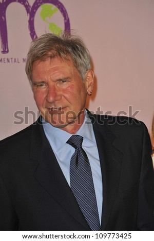 LOS ANGELES, CA - OCTOBER 25, 2009: Harrison Ford at the 20th anniversary Environmental Media Awards at Paramount Studios, Hollywood.