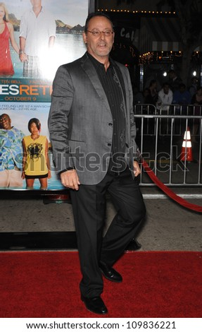 "LOS ANGELES, CA - OCTOBER 5, 2009: Jean Reno at the American premiere of his new movie ""Couples Retreat"" at Mann's Village Theatre, Westwood."