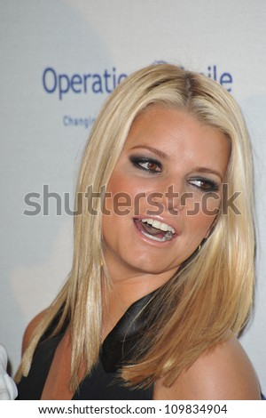 LOS ANGELES, CA - OCTOBER 2, 2009: Jessica Simpson at the Operation Smile Gala at the Beverly Hilton Hotel where she was honored by the children's medical charity.