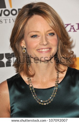 LOS ANGELES, CA - OCTOBER 25, 2010: Jodie Foster at the 14th Annual Hollywood Awards Gala at the Beverly Hilton Hotel.
