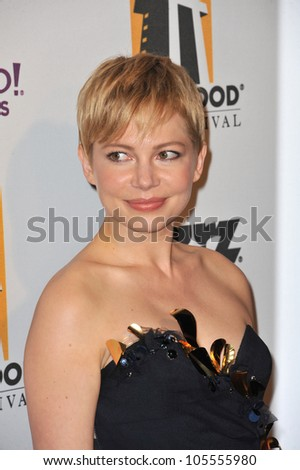 LOS ANGELES, CA - OCTOBER 24, 2011: Michelle Williams at the 15th Annual Hollywood Film Awards Gala at the Beverly Hilton Hotel. October 24, 2011  Beverly Hills, CA