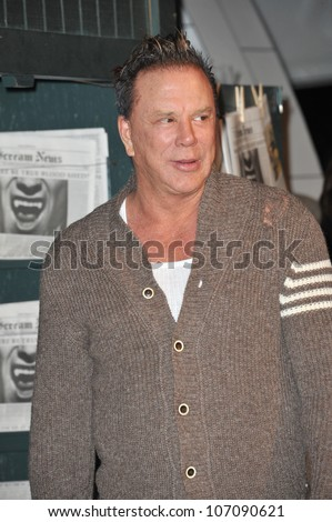 LOS ANGELES, CA - OCTOBER 16, 2010: Mickey Rourke at Spike TV's 2010 Scream Awards at the Greek Theatre, Griffith Park, Los Angeles.