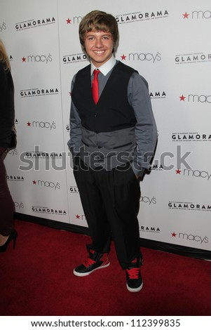 LOS ANGELES, CA - SEP 7: Austin Coleman at Macy's Passport Presents: Glamorama - 30th Anniversary in Los Angeles held at The Orpheum Theater on September 7, 2012 in Los Angeles, California. - stock photo