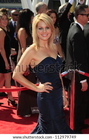 LOS ANGELES, CA - SEP 15: Candace Cameron Bure at the Academy Of Television Arts & Sciences 2012 Creative Arts Emmy Awards held at Nokia Theater on September 15, 2012 in Los Angeles, California - stock photo